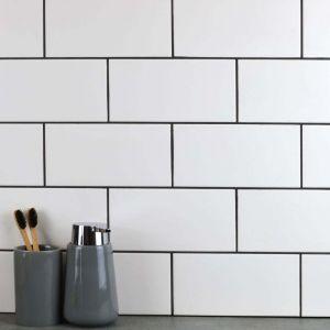 20x10cm White Metro tiles